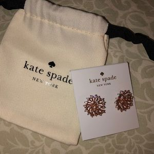 Kate spade ♠️ sunburst rose gold earrings
